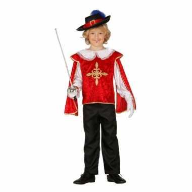 Musketiers verkleedkleding jongens rood