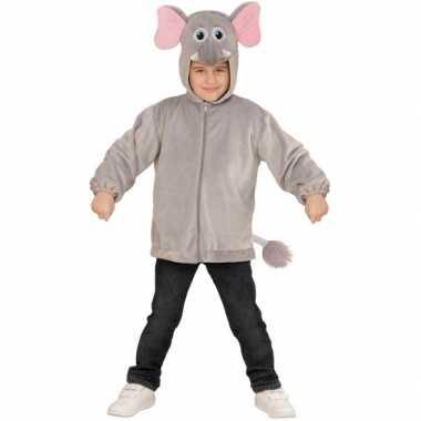 Olifanten verkleedkleding hoodie voor kids
