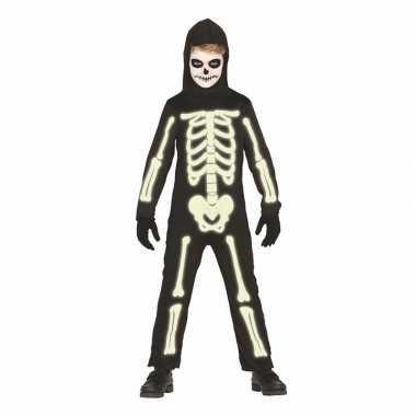 Oplichtend skeletten verkleedkleding voor jongens