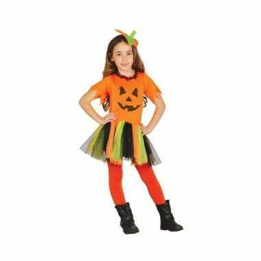 Oranje halloween pompoen verkleedkleding voor meisjes