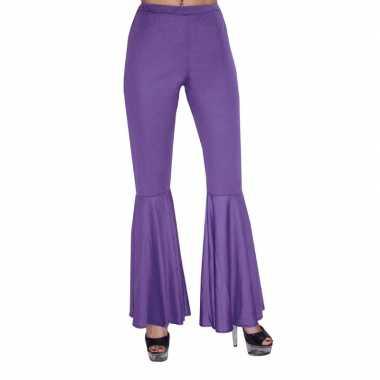 Paarse hippie broek voor kids