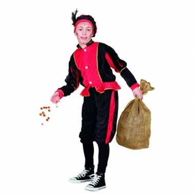 Pieten verkleedkleding rood zwart voor kinderen