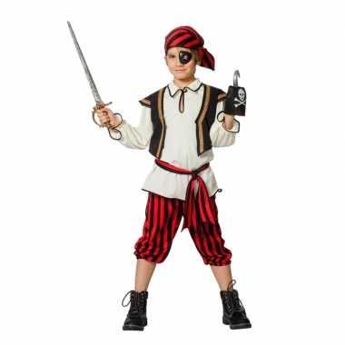 Piraten verkleedkleding rood/zwart voor jongens