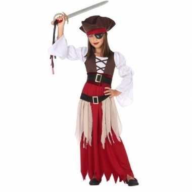 Piraten verkleedkleding/ verkleedkleding voor meisjes