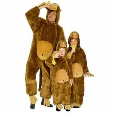 Pluche apen verkleedkleding voor kinderen
