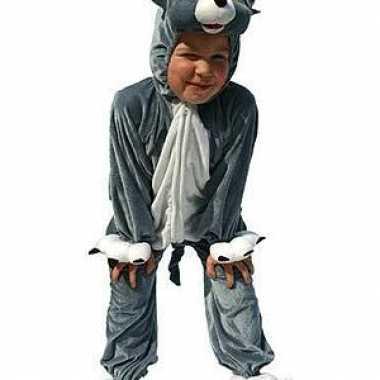 Pluche katten verkleedkleding kinderen