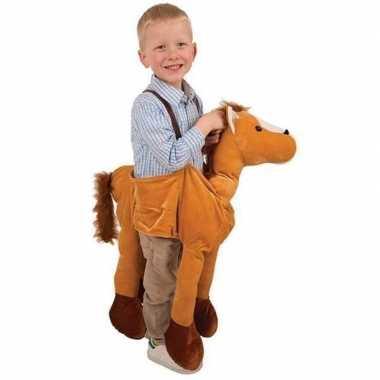 Pluche paarden verkleedkleding voor kids