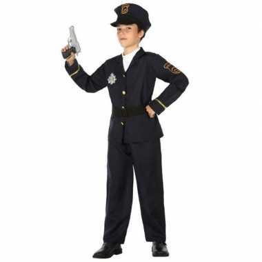 Politie agent uniform verkleedkleding voor jongens