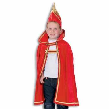 Prins carnaval kinder cape met hoed