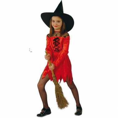 Rode heksen verkleedkleding voor meisjes