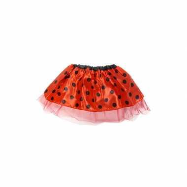 Rode lieveheersbeestje tutu voor meisjes