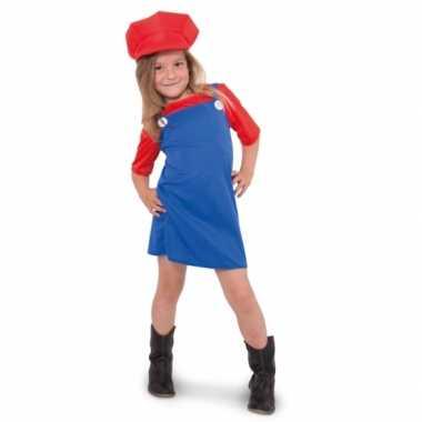 Rode loodgieter verkleedkleding voor meisjes