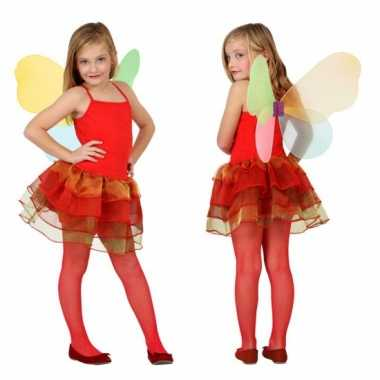 Rode vlinder verkleedkleding voor meisjes