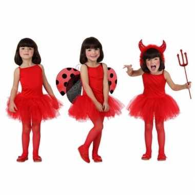 Rood ballet verkleedkleding voor meisjes