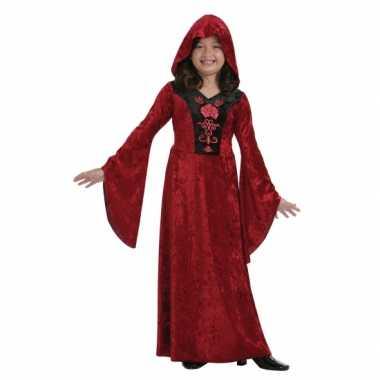 Rood halloween vampier verkleedkleding voor meisjes