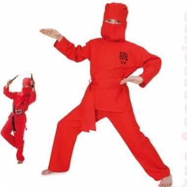 Rood ninja kinder verkleedkleding