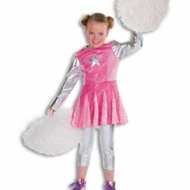 Roze cheerleaders verkleedkleding voor meisjes