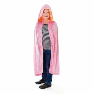Roze kindercape van fluweel kids