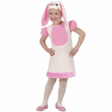 Roze konijn verkleedkleding voor meisjes