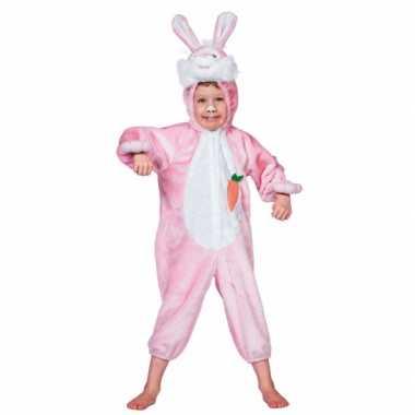 Roze konijnen pakje voor kinderen