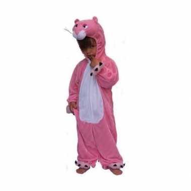 Roze panter kinder verkleedkleding pluche