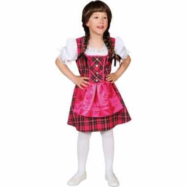 Roze tirol verkleedkleding voor meisjes