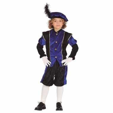 Sinterklaas thema verkleedkleding/ verkleedkleding zwart met blauw voor kinderen