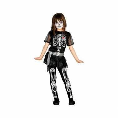 Skelet juwelen meisjes verkleedkleding
