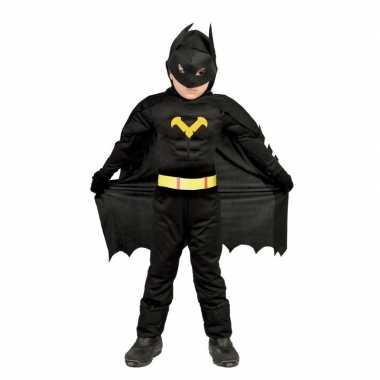 Superhelden vleermuis pak voor jongens zwart