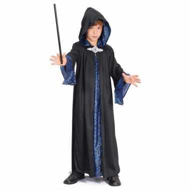 Tovenaar cape blauw/zwart kinderen