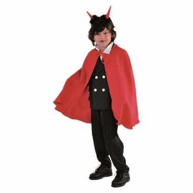Vampier cape kinderen rood