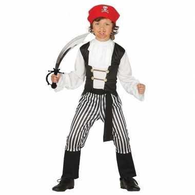 Verkleed piraten verkleedkleding voor kinderen maat 140 152 met zwaar