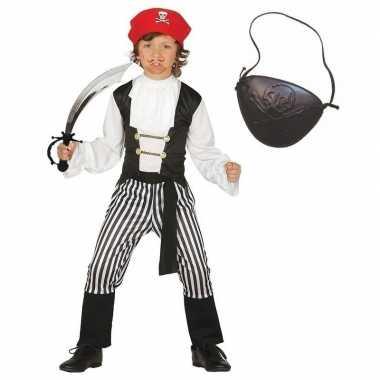 Verkleed piraten verkleedkleding voor kinderen maat 140 152
