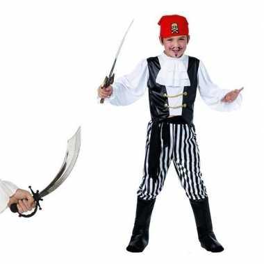 Verkleed piraten verkleedkleding voor kinderen maat m met zwaard