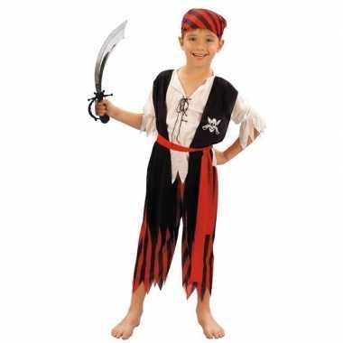 Verkleed piraten verkleedkleding voor kinderen maat s met zwaard