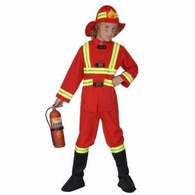 Verkleedkleding brandweerpak kind