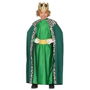 Verkleedkleding koning groen voor kinderen