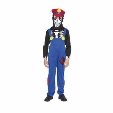 Verkleedkleding loodgieter horror skelet verkleedkleding voor kindere