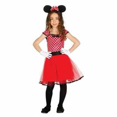 Verkleedkleding muizen meisje rood 10109765