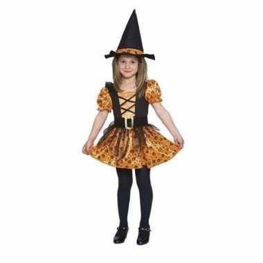 Verkleedkleding oranje heksen verkleedkleding voor meisjes