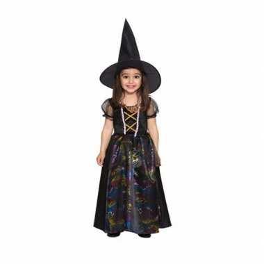 Verkleedkleding peuters zwarte heksen verkleedkleding voor meisjes