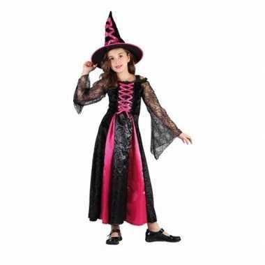 Verkleedkleding roze heksen verkleedkleding voor meisjes