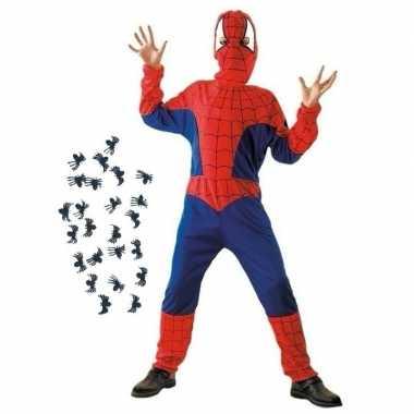 Verkleedkleding spinnenheld pak maat s voor kinderen