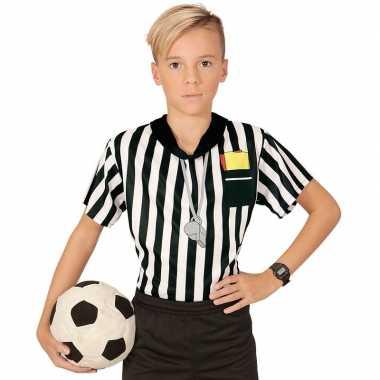 Voetbal scheidsrechter verkleedkleding/ shirt jongens met opdruk