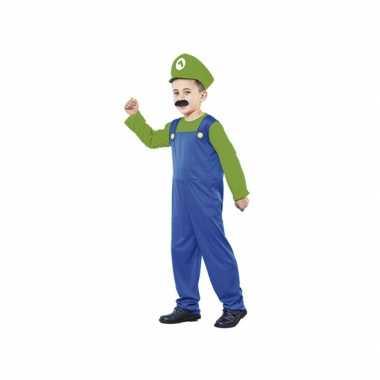 Voordelig loodgieter verkleedkleding kids groen