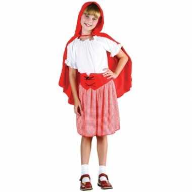 Voordelig roodkapje verkleedkleding voor meisjes