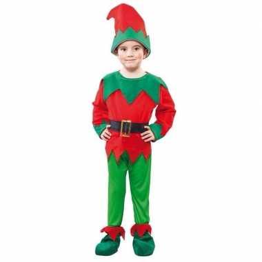 Voordelige kerst elf verkleedkleding voor een kind
