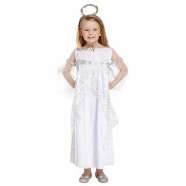 Wit kerstengel verkleedkleding voor meisjes