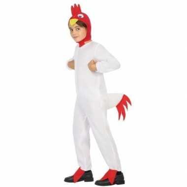 Witte haan/kip doodle verkleedkleding voor jongens