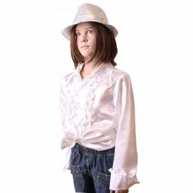 Witte hippie verkleedkleding meisjes